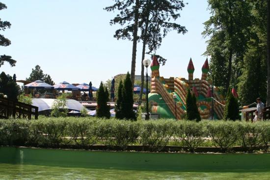 Botosani, Roumanie : parcul Mihai Eminescu