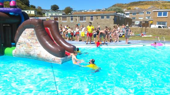 Freshwater Beach Holiday Park Assault Course For Kids And Adults To Tackle