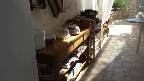 Kalderimi Studios: zona colazione