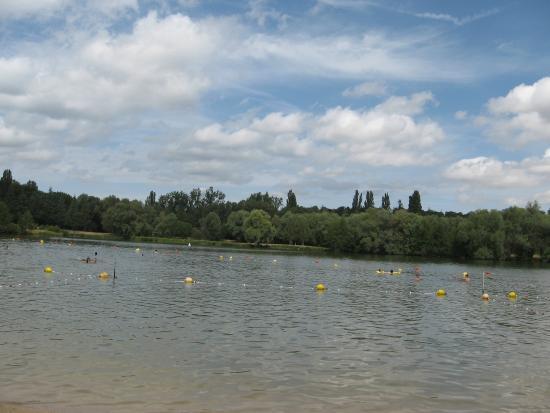swimming area and beach  Photo de Île de Loisirs de Bois