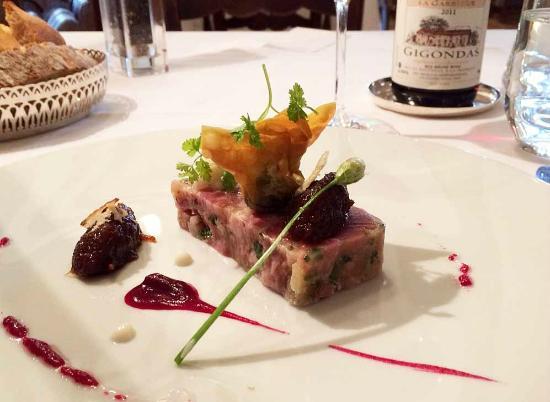 Hotel Les Florets: joue de boeuf met foie gras