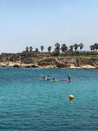 Casa Caesarea: Beach area, Caesarea Harbor National Park