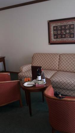 Hotel Schweizerhof : sitting area of room
