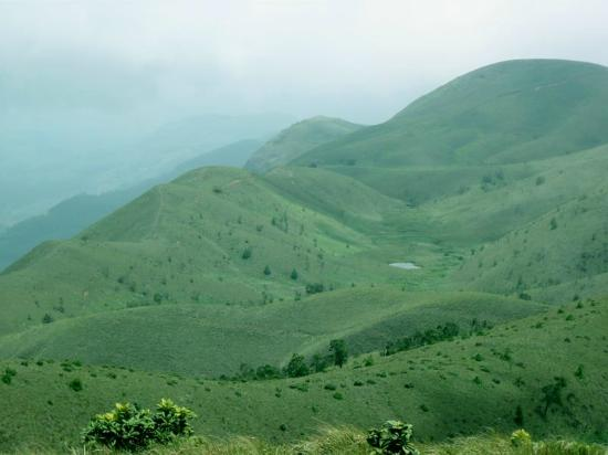 Idukki, India: View from top of Meesapulimala