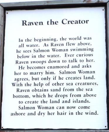 "Resurrect Art Coffee House Gallery : ""Raven, the Creator"" explanation"