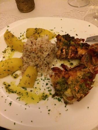 Evoke Bar e Comedoria: Lagosta evoke e camarão a grega