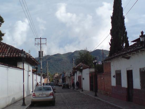 Templo del Carmen: View of a typical street