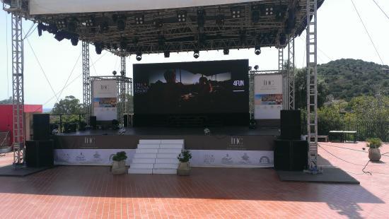 Chia Laguna - Hotel Village: Evening entertainment stage