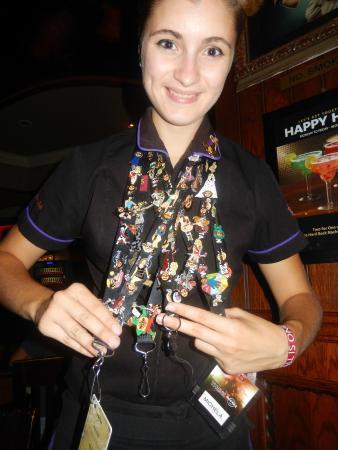 Our waitress - Michela