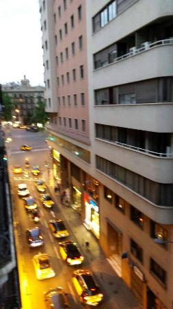 Las Ramblas Apartments III: The view to the left. Few minutes walk from center
