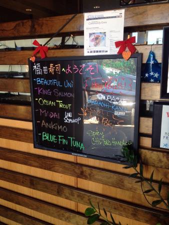fukuda sushi: menu