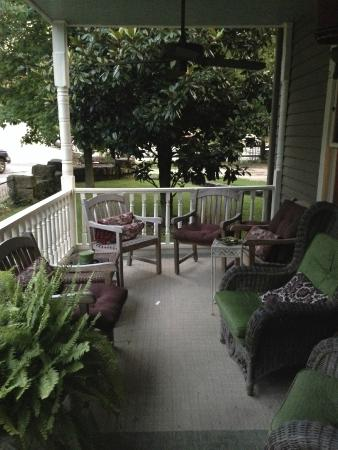 66 Center Street: Front porch of the main house (faces Center Street)