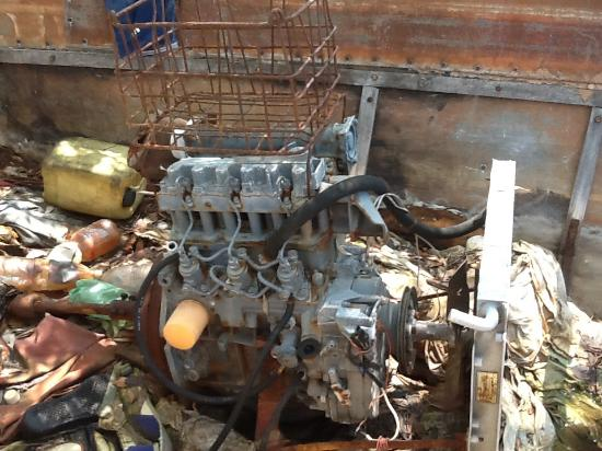 3-cylinder Diesel Engine In A Cuban Chug