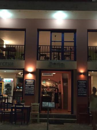 Taverne Porto op Ithaca.