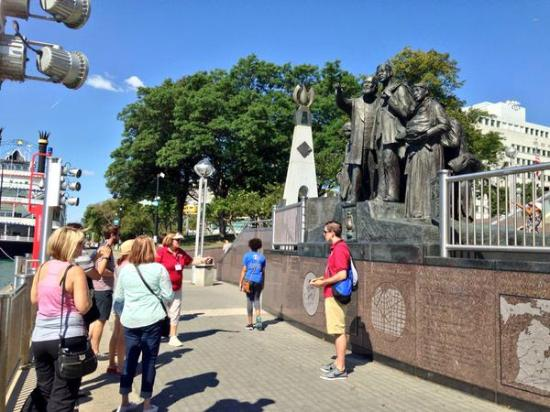 Preservation Detroit Tours: Underground Railroad memorial