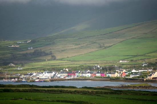 Portmagee Heights : view of town from valentia 3