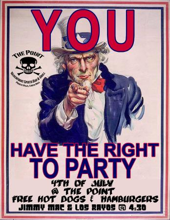 The Point Sports Bar & Grill: Happy 4th of July.