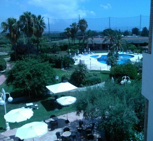 Mas Gallau: Vista desde la terraza de la habitación