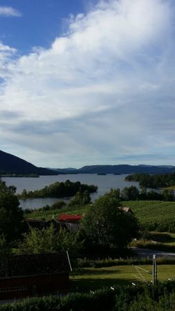 Telemark, Noruega: Utsikt fra hotelles terrasse