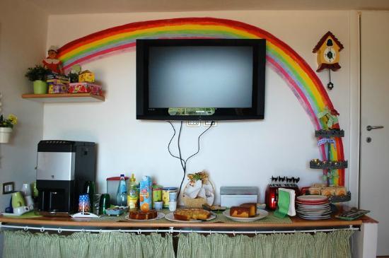 Arcobaleno Bed&Breakafst : stanza della colazione