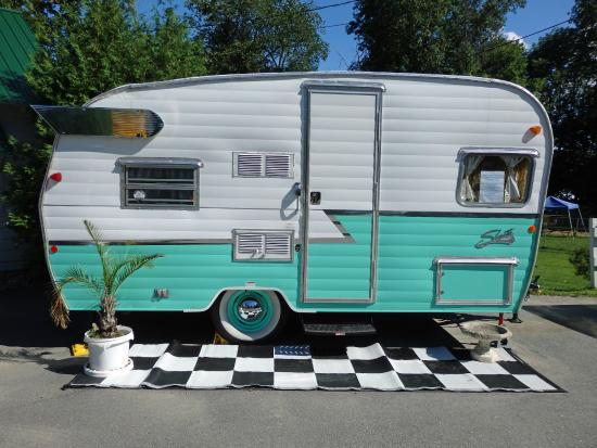 Brattleboro North KOA: Don't have a camper?  Rent this adorable rig!