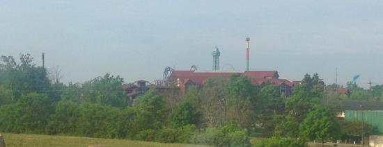 Comfort Suites - Kings Island: View from the top floor room looking toward the park