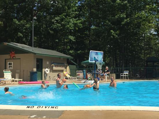 Timber Ridge RV & Recreation Resort: The pool (1/2 of it)