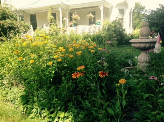 Just one of the gardens at the Hilltop Inn!