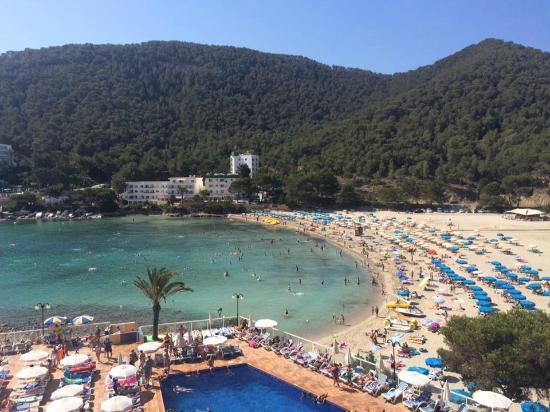 Sirenis Cala Llonga Resort: view from the reception's balcony