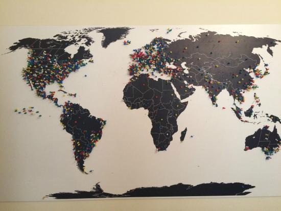 World Map Of Visitors Picture Of Avenue Hostel Budapest Tripadvisor