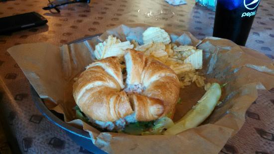 Rochester, Indiana: Tuna salad croissant