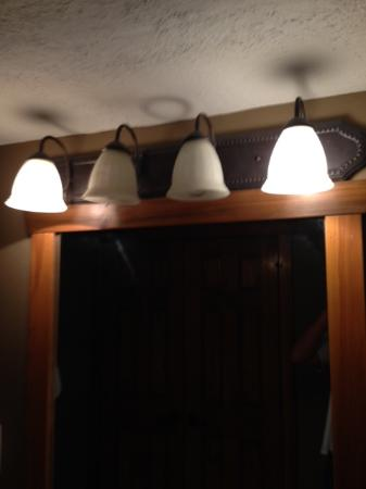 Burned out Light Bulbs in Bathroom - Picture of The Lodges At Table ...
