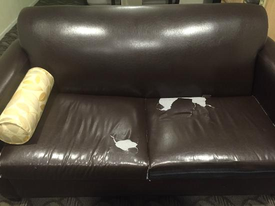Rodeway Inn & Suites: State of the couch