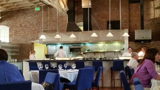 Whitehouse-Crawford Restaurant: A View Towards the Open Kitchen