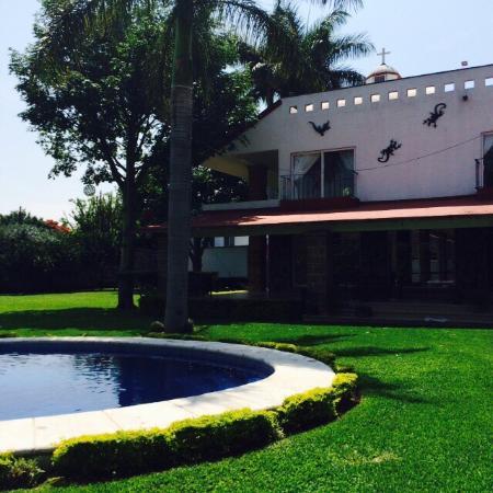 Yautepec, Meksika: VistA desde el balcón interior, habitación cuádruple con vista a la alberca.