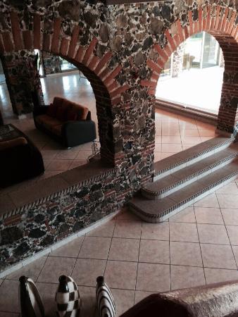 Yautepec, México: VistA desde el balcón interior, habitación cuádruple con vista a la alberca.
