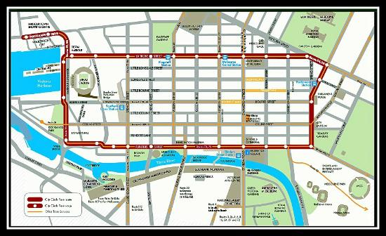 MAP Picture of City Circle Tram Melbourne TripAdvisor