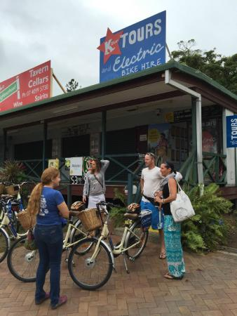 K Star: They start the tours right on the main drag of Port Douglas.