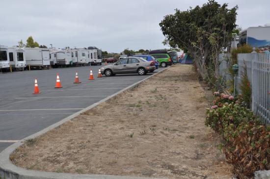 Candlestick RV Park: Camping Facility, less the four feet to pitch the tent