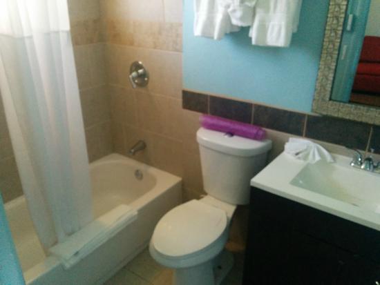 Rodeway Inn & Suites: Rm 114 bathroom
