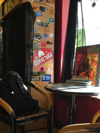 Java Hut : View from the couch in the back seating area