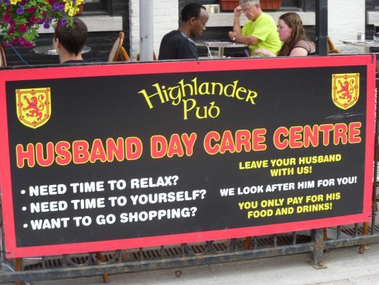 Highlander Pub: Highlander Husband Care Centre