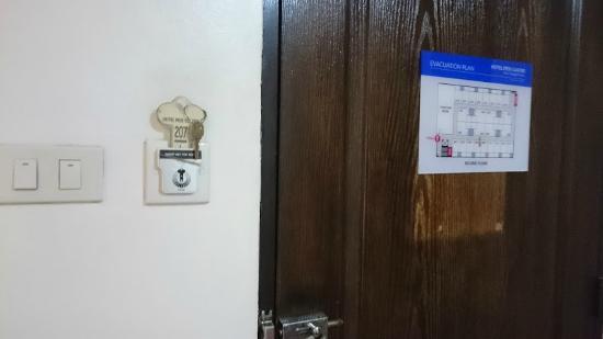 Hotel Pier Cuatro: the door key
