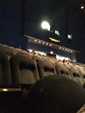 Simons IMAX Theatre at New England Aquarium : Top of theater where you are asked to exit at the end of the movie