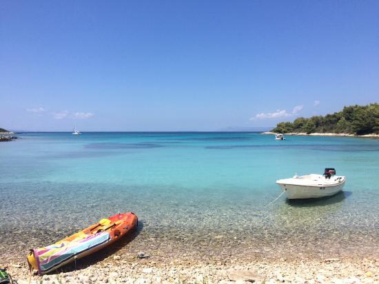 Pension Gradina: Bucht in der Nähe. Mit Kanu leicht erreichbar