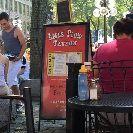 Ames Plow Tavern: Outdoor Entrance