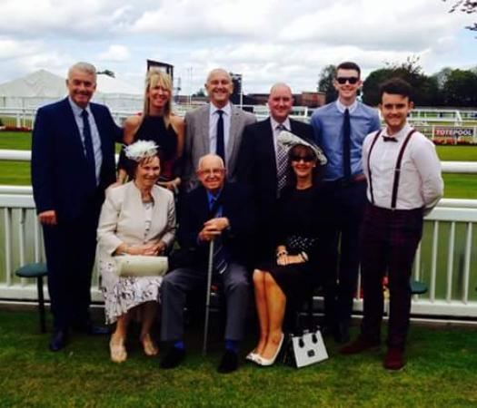Gilling East, UK: Golden Wedding celebrations at Thirsk Races (and the Fairfax Arms)