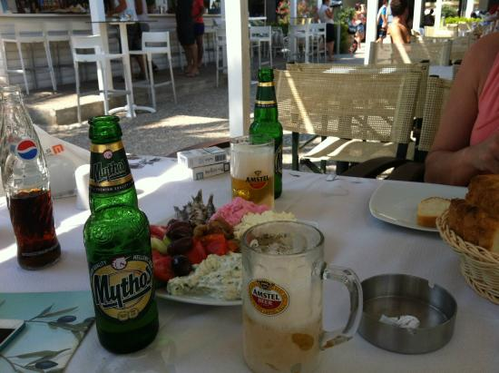 Flogita, Griechenland: a little beer break
