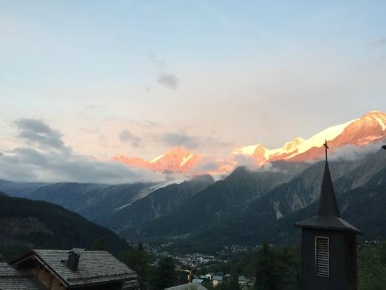 Granges d'en haut - Ski chalets: View from balcony of chalet