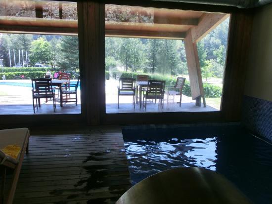 Hotel La Coma: Vista desde la piscina interior